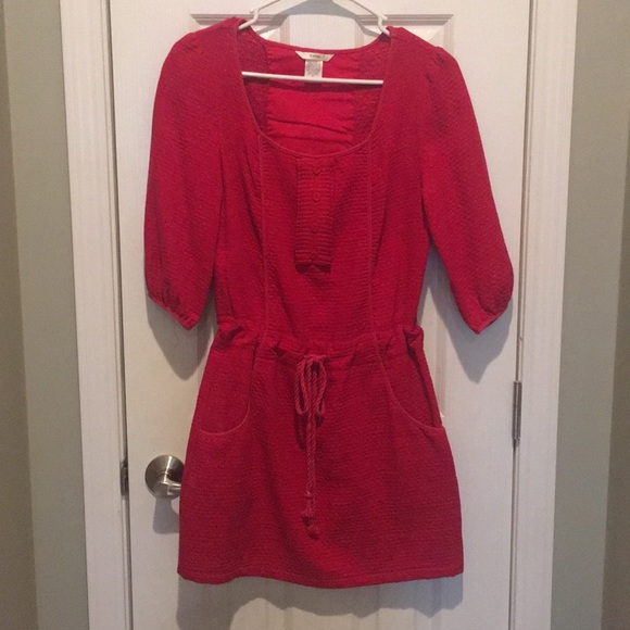 Esley Dresses & Skirts - Red dress with draw-string waist